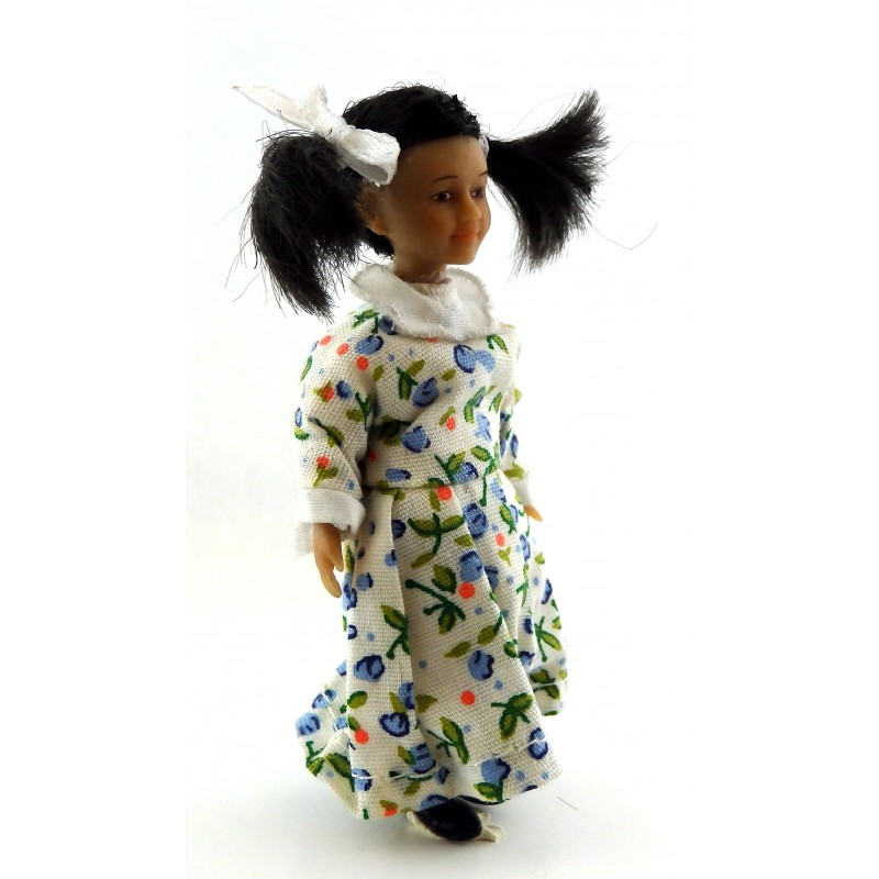 Dolls House Miniature Asian People Merry Meeting Little Girl Lily Lee