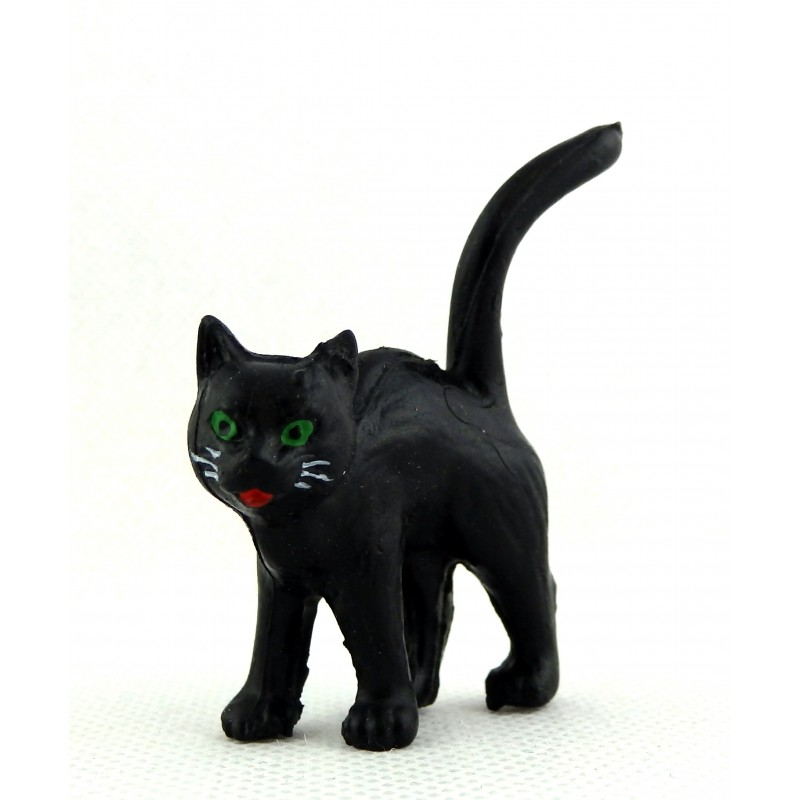 Melody Jane Dolls House Miniature Animal Halloween Accessory Black Cat Standing