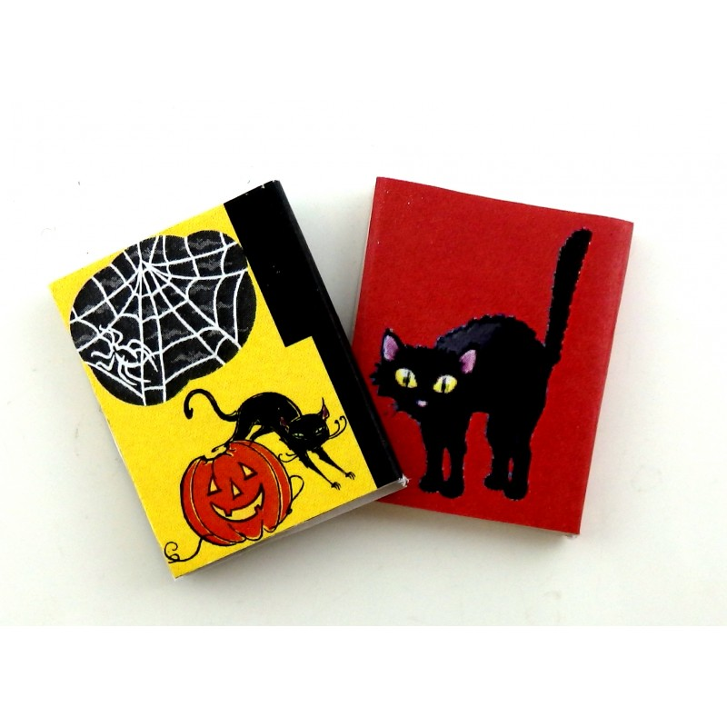 Dolls House Miniature Halloween Accessory Witch Wizard Ghost Bats Cats Books