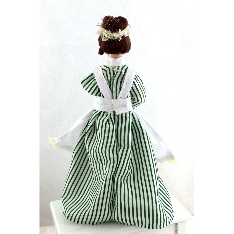 Dolls House Miniature Porcelain People Victorian Woman Lady Servant Maid Cook