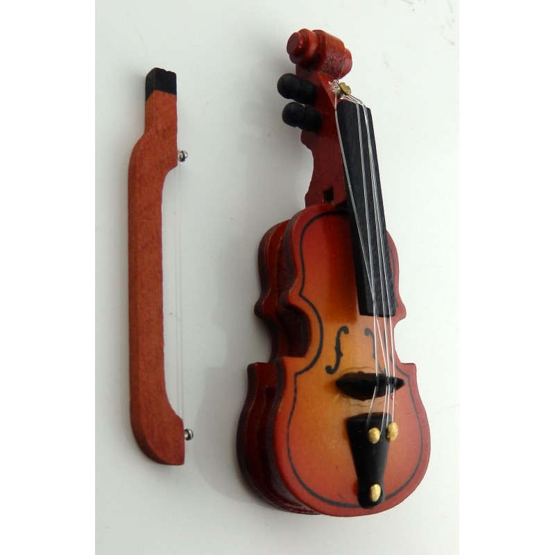 Dolls House Miniature Violin 1:12 Scale Instrument Music Room Accessory