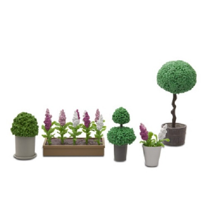Lundby Stockholm 1:18 Dolls House Garden Accessories Flowers and Plants Set