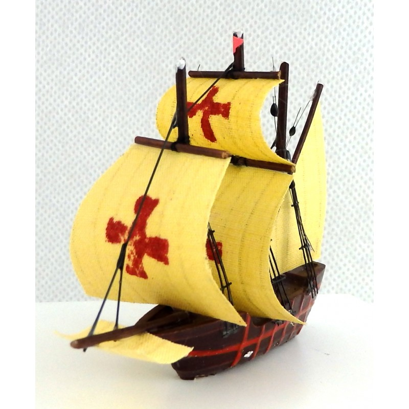 Dolls House Sailing Ship Spanish Armada Miniature Boat Ornament Galleon