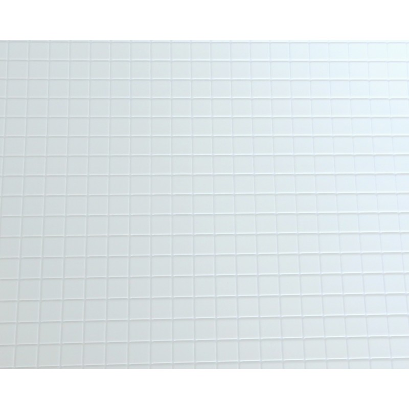 Dolls House Miniature 1:12 Scale Kitchen Bathroom Flooring White Tile Sheet