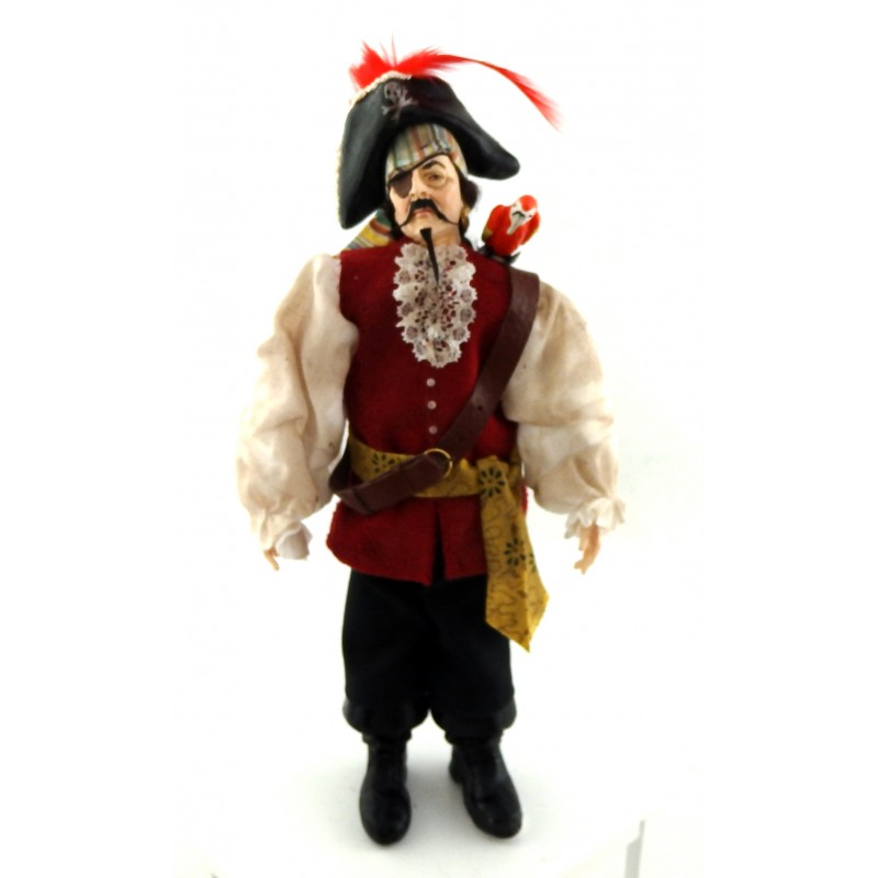 Dolls House Falcon Miniature Pirate Character Polyresin Man Figure