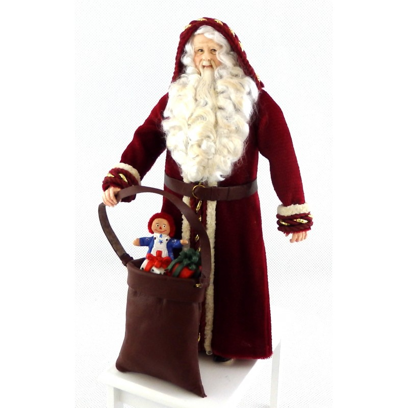 Dolls House Father Christmas Figure Santa Falcon Miniature People