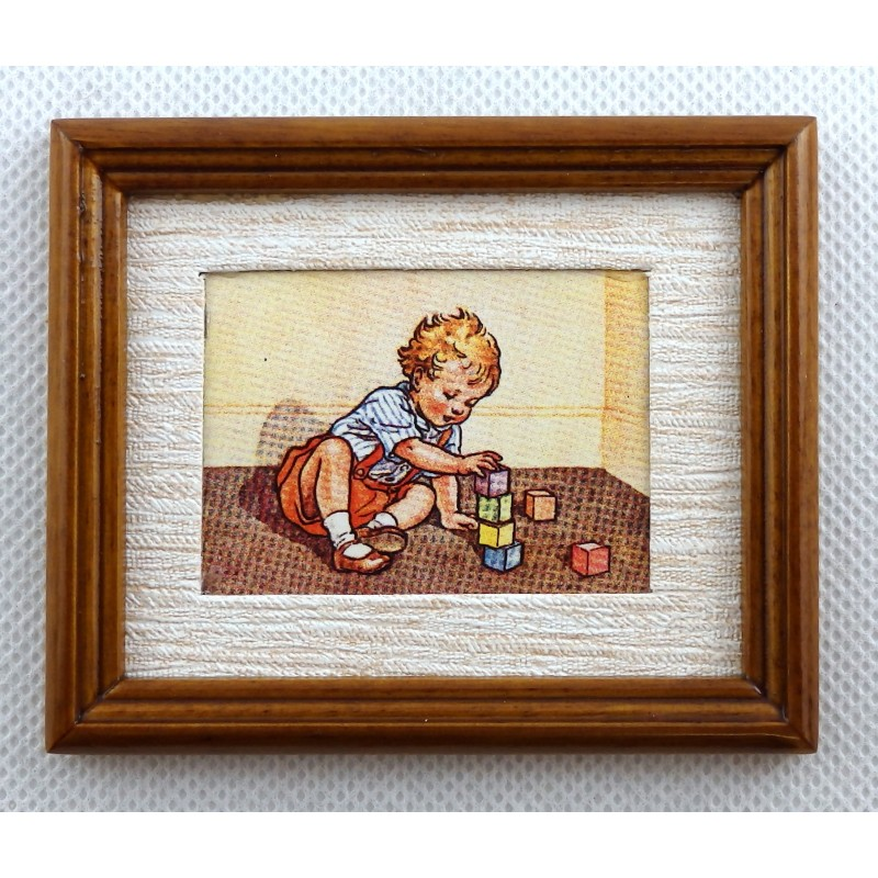 Melody Jane Dolls House Learning to Build Painting Walnut Frame Miniature