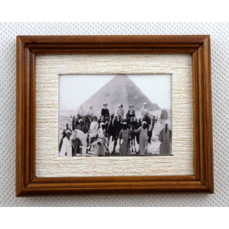 Melody Jane Dolls House Foreign Travels Picture Painting in Walnut Frame