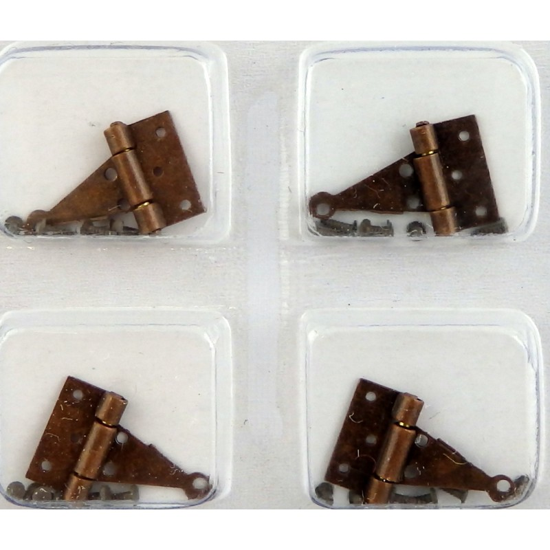 Dolls House 4 Bronze T Hinges Miniature DIY Fixtures & Fittings Hardware