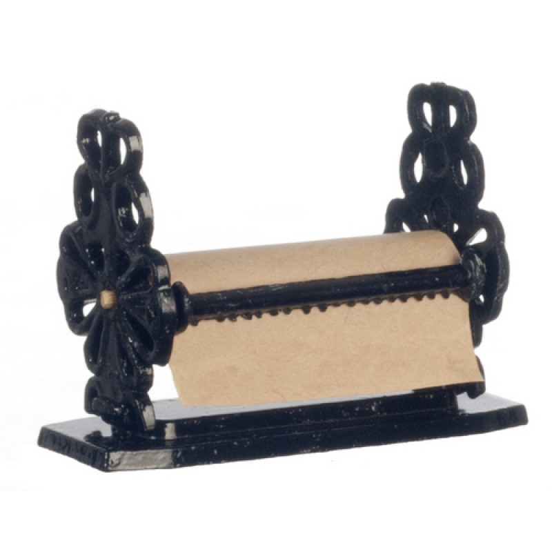Dolls House Large Wrought Iron Paper Towel Holder Miniature Accessory