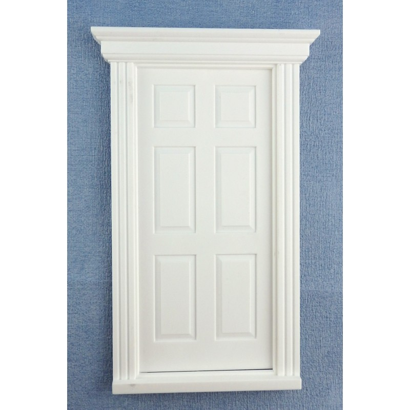 Dolls House White Plastic 6 Panel Georgian Door 1:12 Scale DIY Builders