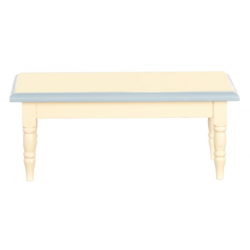 Dolls House Blue Cream Table Shabby Chic Miniature Dining Room Furniture