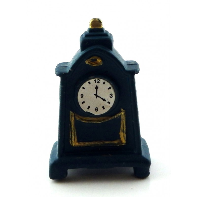 Dolls House Teal Mantle Carriage Clock Miniature Living Room Lounge Accessory