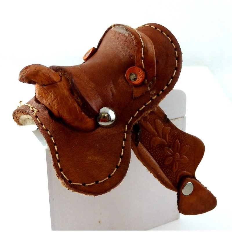 Dolls House Western Leather Saddle Miniature Horse Stable Accessory