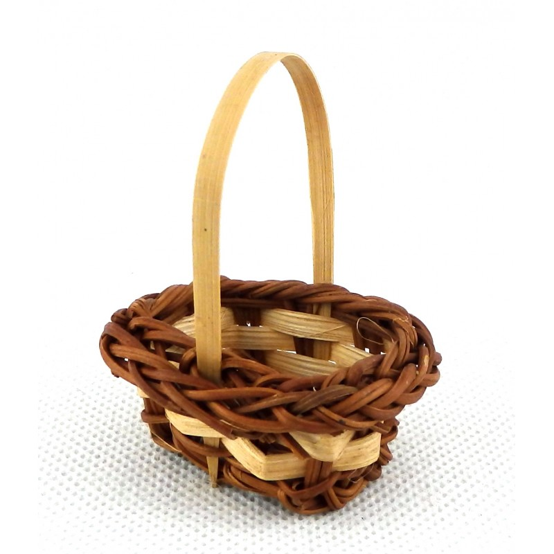 Dolls House Wicker Shopping Basket Woven Miniature Accessory