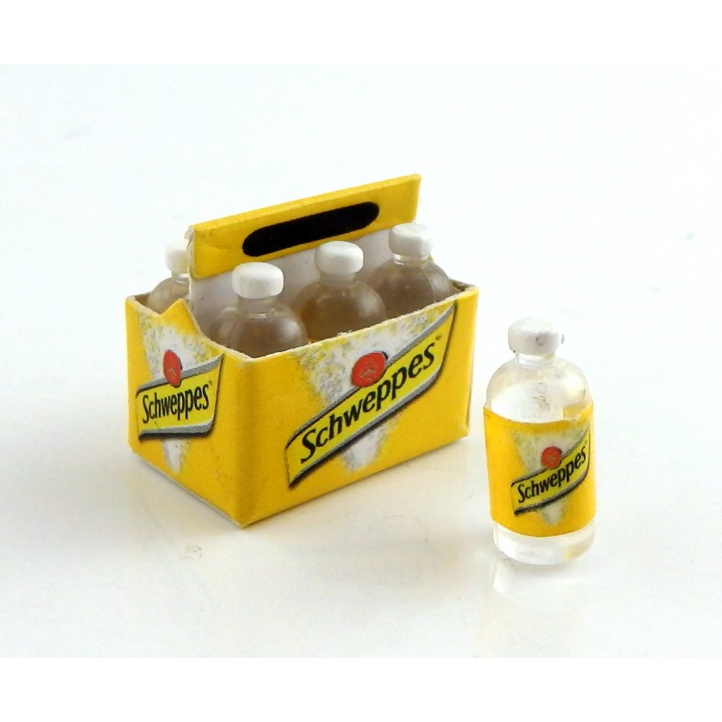 Dolls House Carton Crate of Tonic Water Pub Shop Bar Accessory