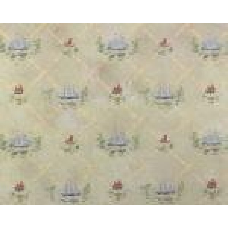 Dolls House American Colonial Clipper Ship Miniature Nautical Print Wallpaper