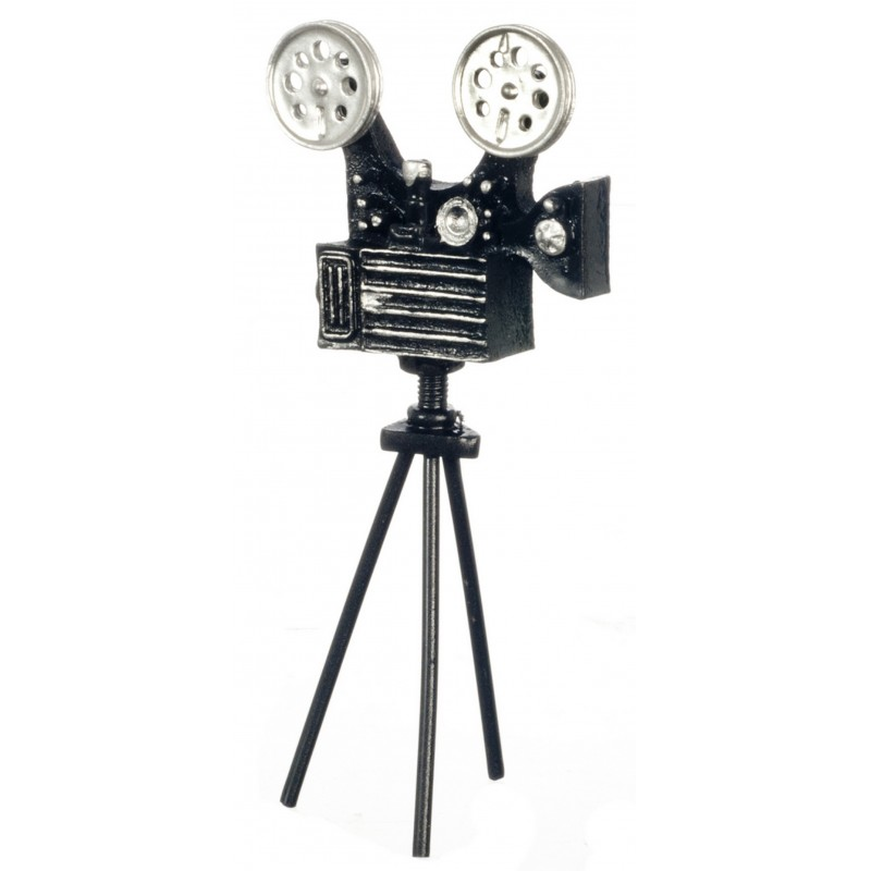 Dolls House Movie Film Cine Camera on Tripod Stand Miniature Accessory 1:12