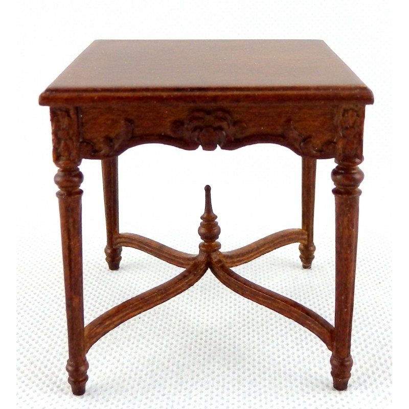 Dolls House Victorian Tea Table Walnut JBM Miniature Living Room Furniture