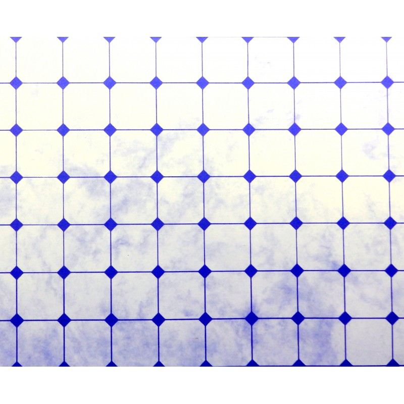 Dolls House Blue White Tile Effect Paper Miniature 1:12 Flooring Accessory