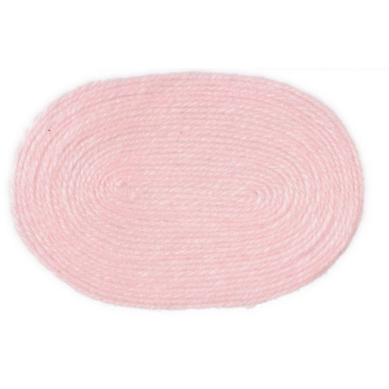 Dolls House Miniature 1:12 Scale Accessory Plain Baby Pink Large Oval Rug