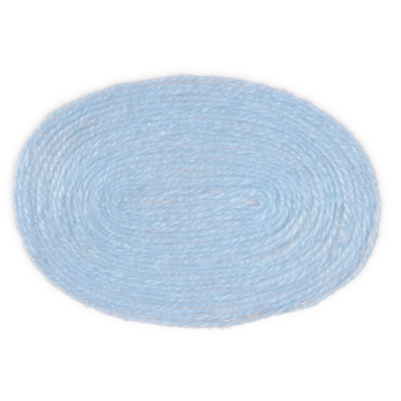 Dolls House Miniature 1:12 Scale Accessory Plain Baby Blue Large Oval Rug