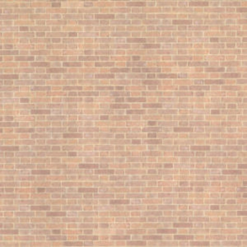 Melody Jane Dolls House Old Red Brick Paper Miniature 1:24 Exterior Wallpaper