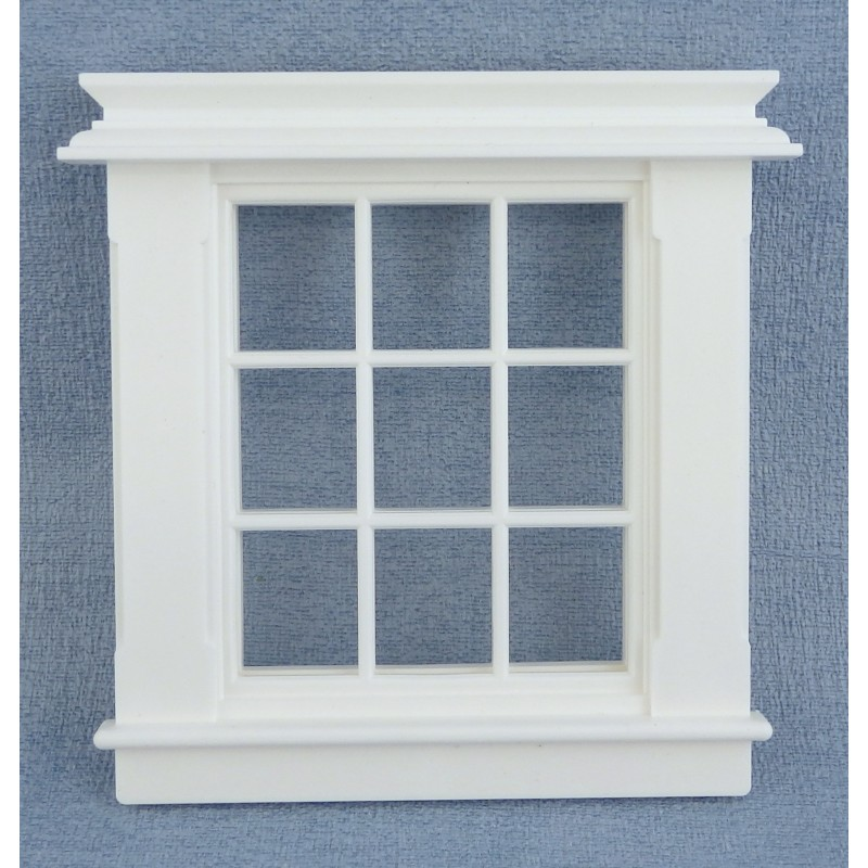 Melody Jane Dolls House Miniature Plastic Georgian Window Frame 9 Pane 1:24