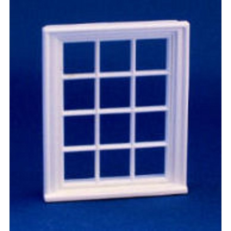 Melody Jane Dolls House Miniature Plastic Victorian Window Frame 12 Pane 1:24