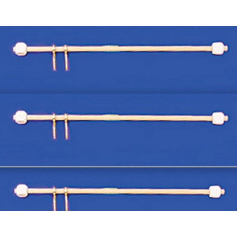 "Dolls House 3 Wooden Curtain Rods Rails 10cm 4"" Long Miniature Window Accessory"