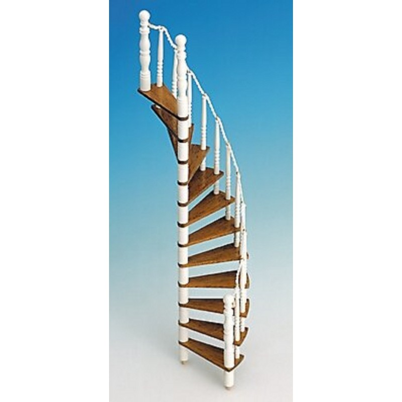 Dolls House Spiral Staircase Kit Wooden 1:12 Scale Miniature Stairs