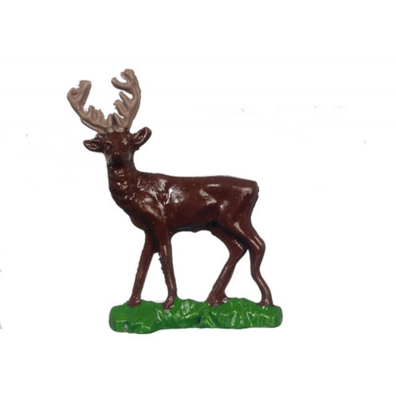 Dolls House Stag Statue Figurine Miniature 1:12 Scale Ornament Accessory
