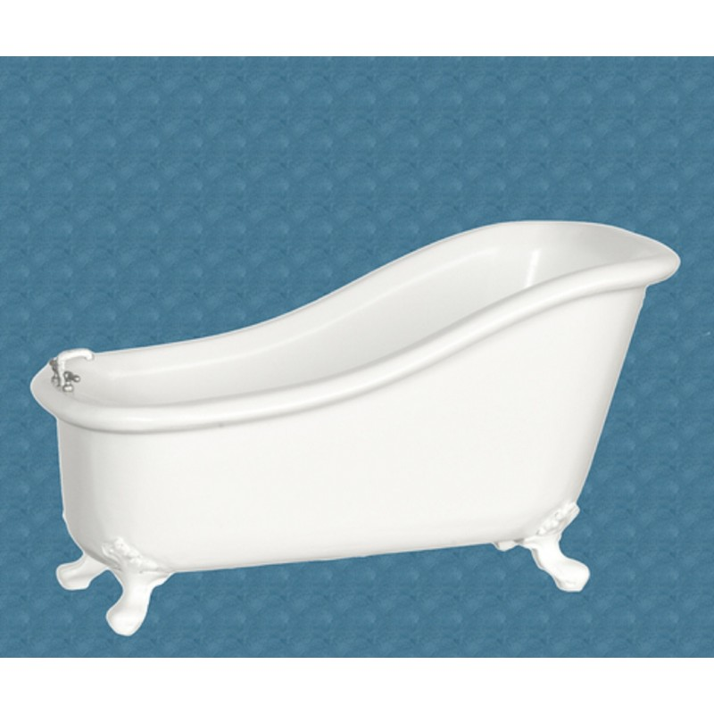 Dolls House White Avalon Bath Tub The Platinum Collection Bathroom Furniture