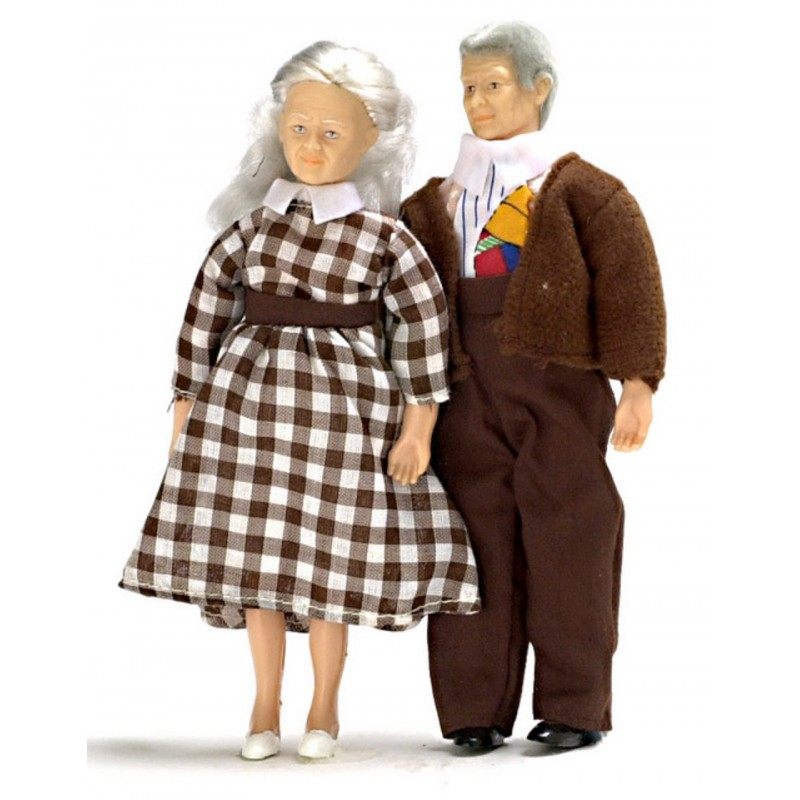 Dolls House Modern Grandma & Grandad Grandparents Miniature 1:12 People