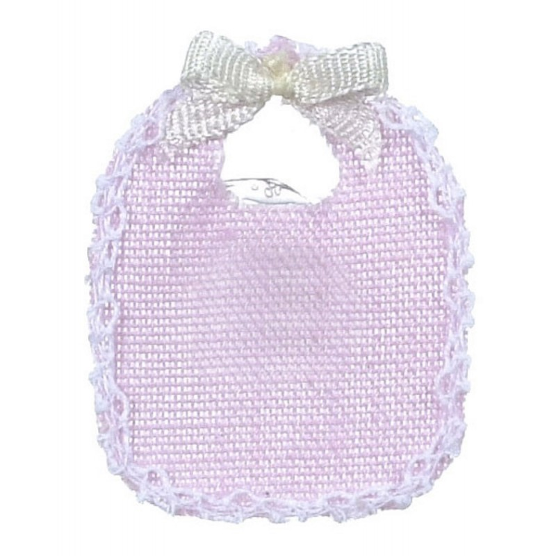 New Dolls House Falcon Miniature Nursery Baby Accessory 2 Pink Bibs