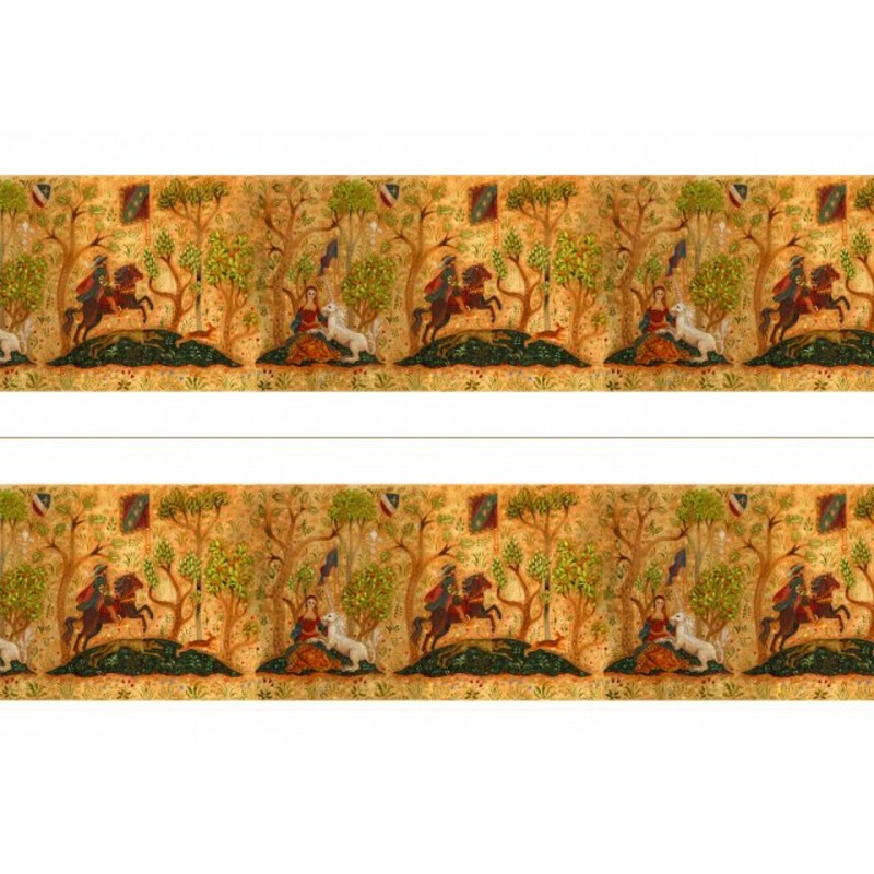 Dolls House Tudor Wallpaper Frieze Miniature Print 1:12 Scale