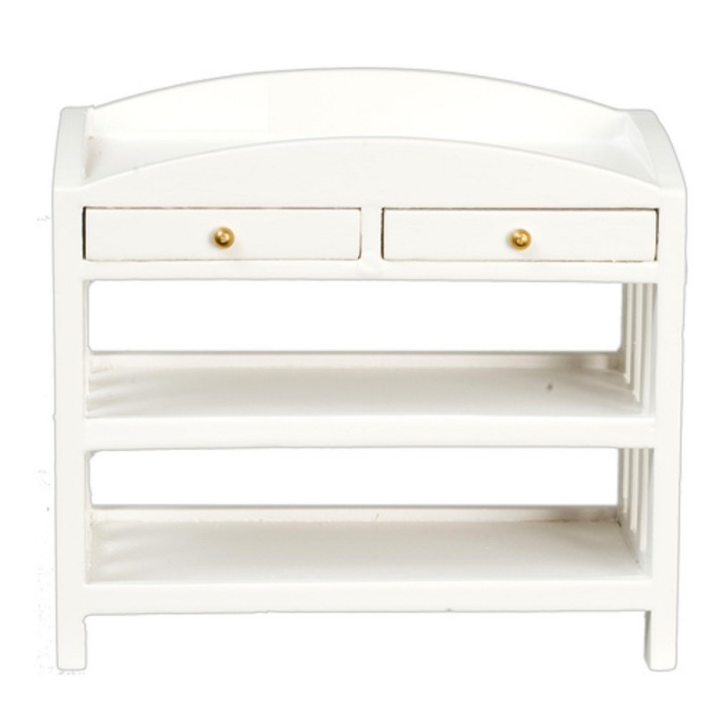 Dolls House White Mission Changing Table