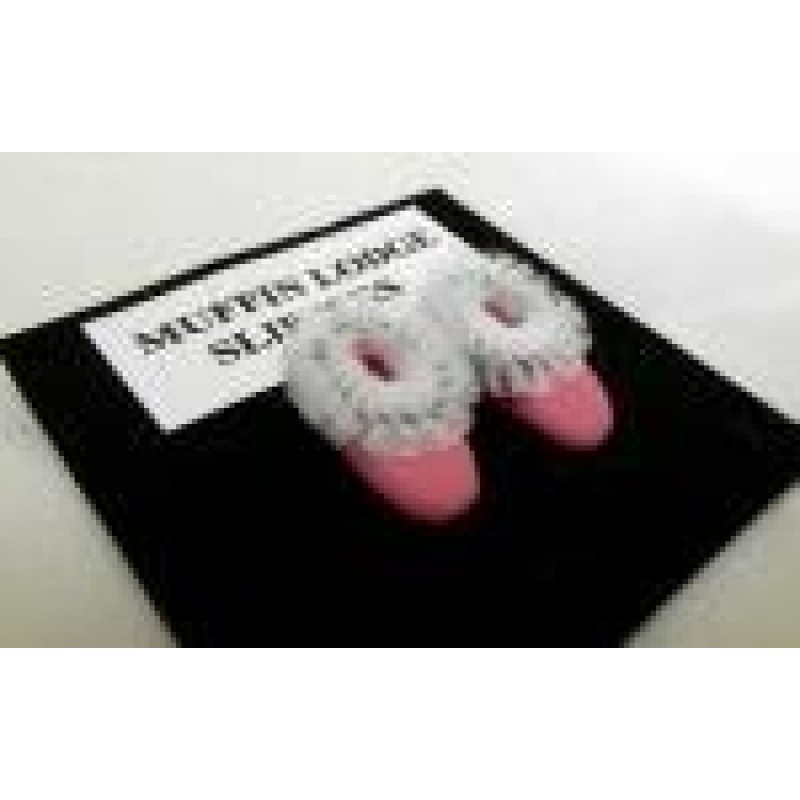 Dolls House Miniature 1:12 Bathroom Bedroom Accessorry Pink Ladies Slippers