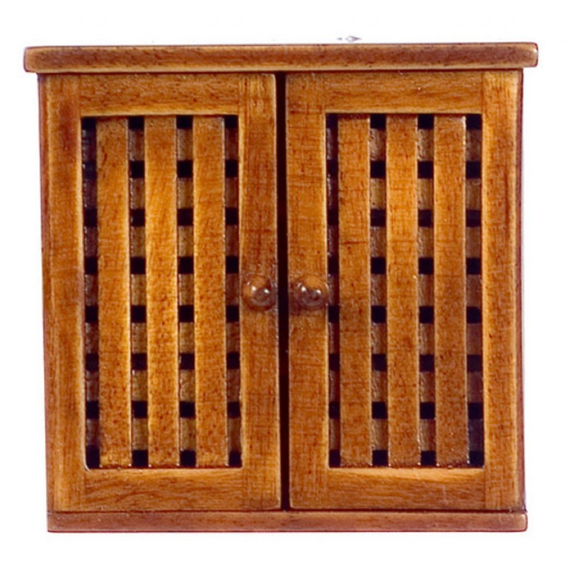 Dolls House Miniature Bathroom Furniture Walnut Bonaire Wall Medicine Cabinet
