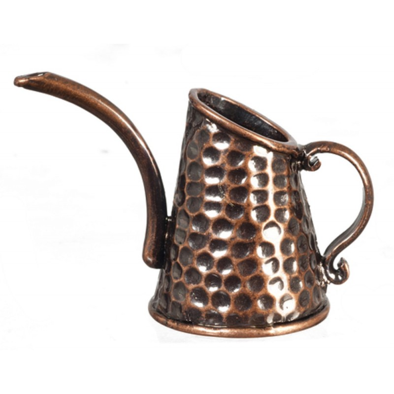 Melody Jane Dolls House Antique Copper Watering Can Old Fashioned Miniature