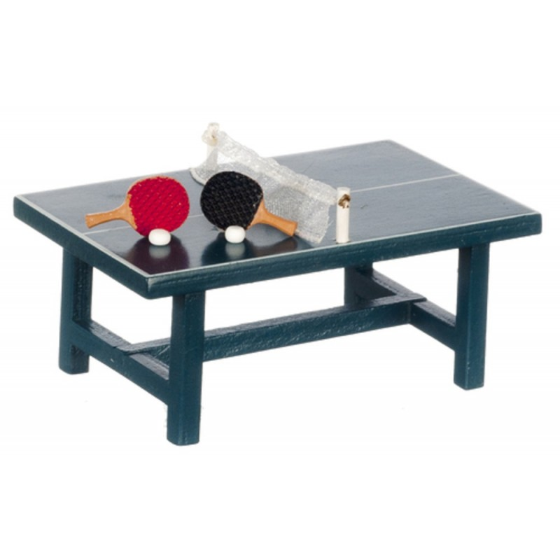 Dolls House Table Tennis Set Ping Pong Table Set Miniature Game