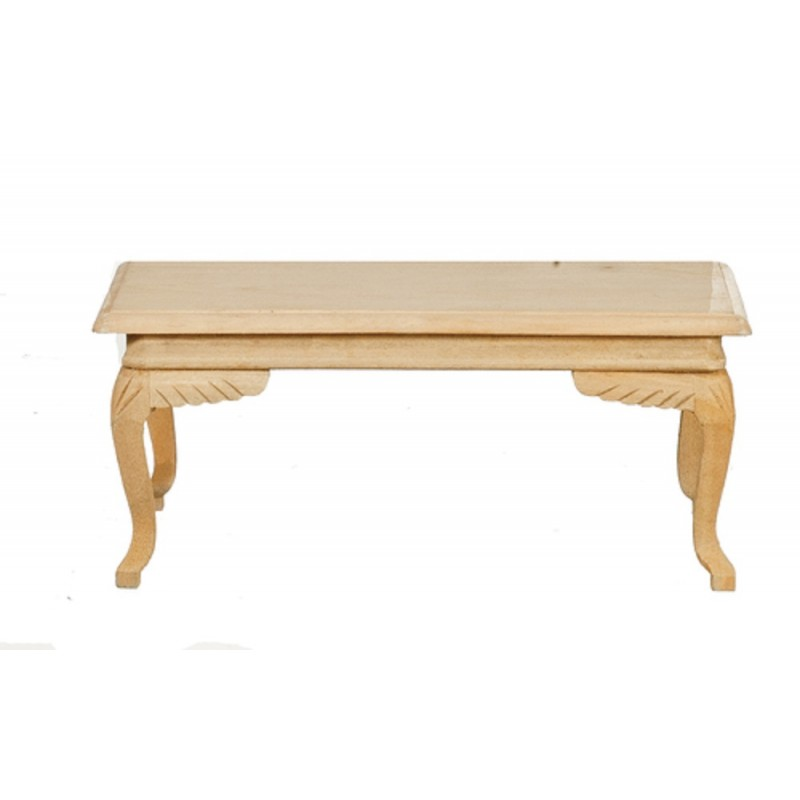 Dolls House Dining Table Rectangular Unfinished Bare Wood Miniature Furniture