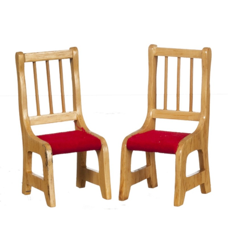 Dolls House 2 Side Chair Unfinished Bare Wood Miniature Dining Room Furniture A