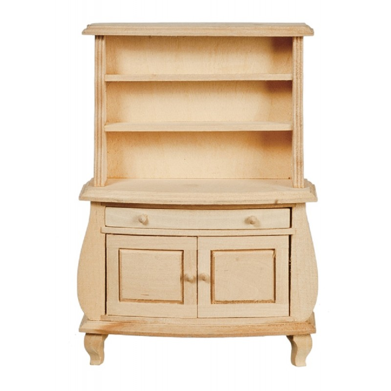 Dolls House Bare Wood Dresser Cabinet Unfinished Miniature Dining Room Furniture