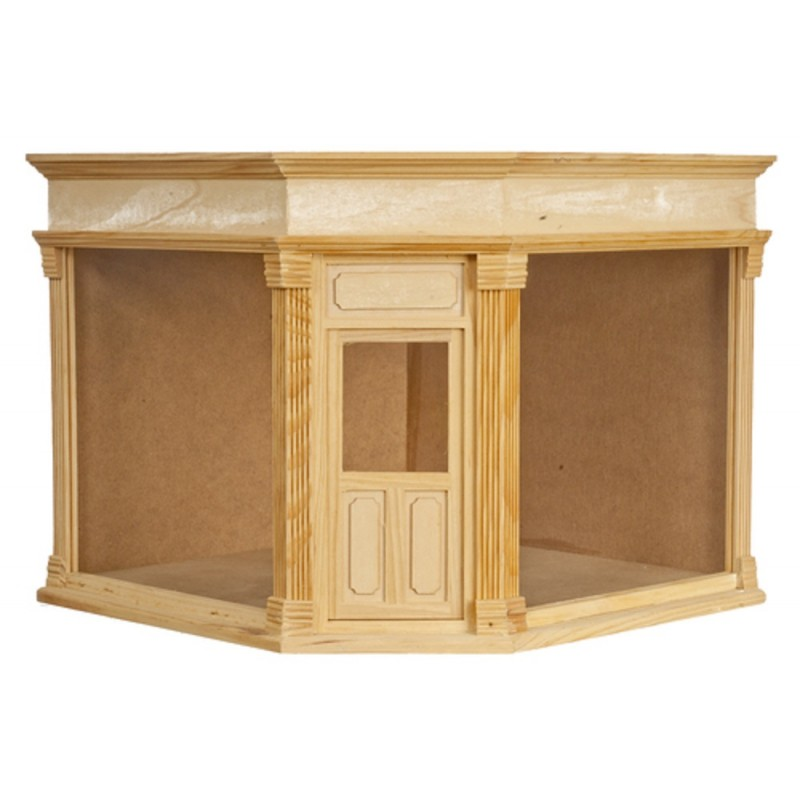 Dolls House Corner Shop Ready Made Unfinished Wood 1:12 Scale