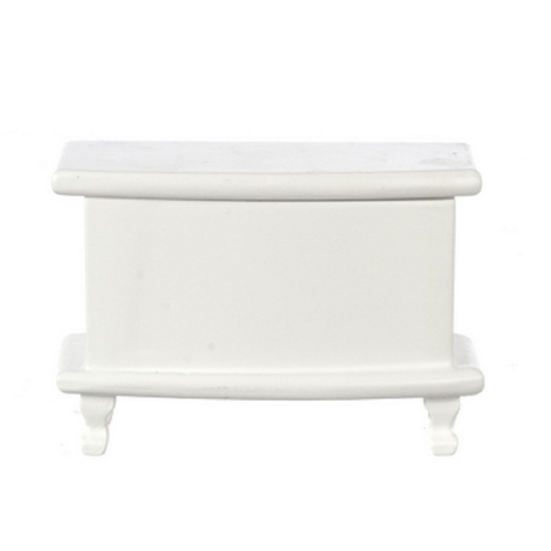 Dolls House White Queen Ann Toy Box Wedding Chest Ottoman Miniature Furniture