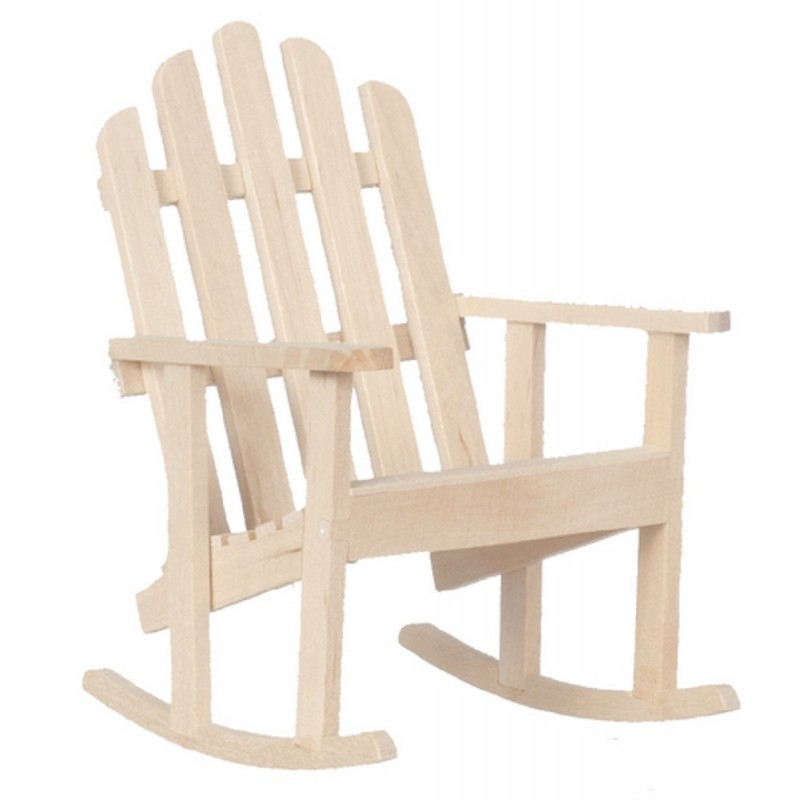 Dolls House Rocking Chair Miniature Unfinished Bare Wood Garden Furniture