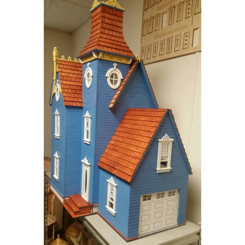 The Hamlin Victorian Dolls House with Garage Flat Pack Laser Cut Kit