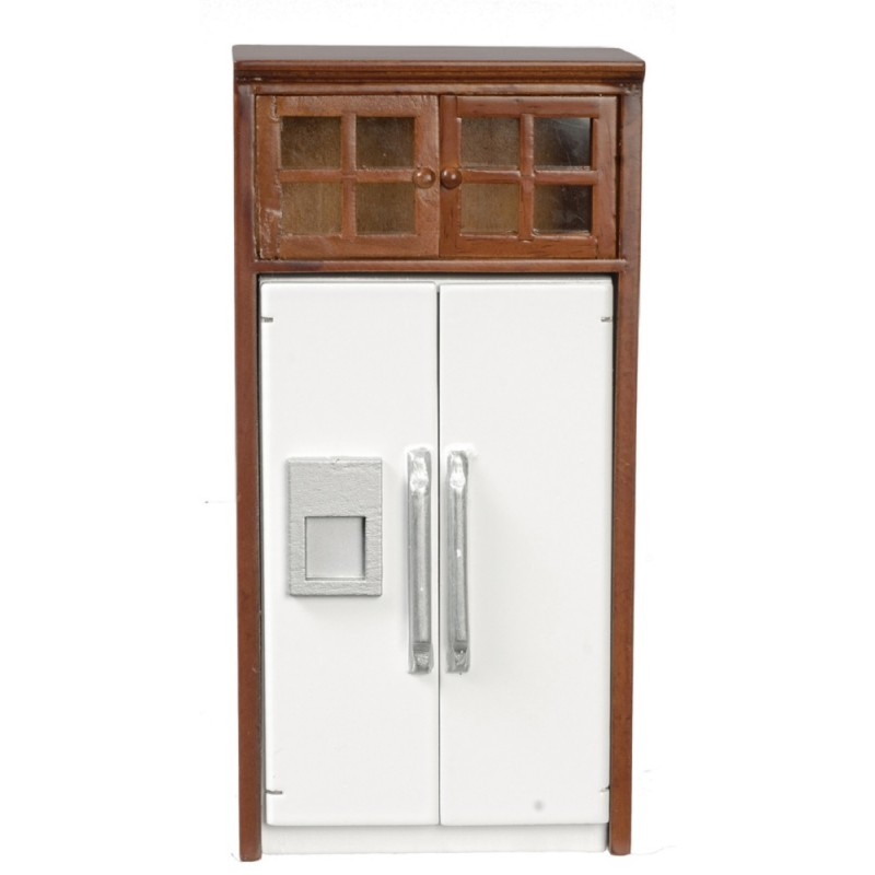 Dolls House Fridge Freezer & Walnut Housing Fitted Kitchen Furniture