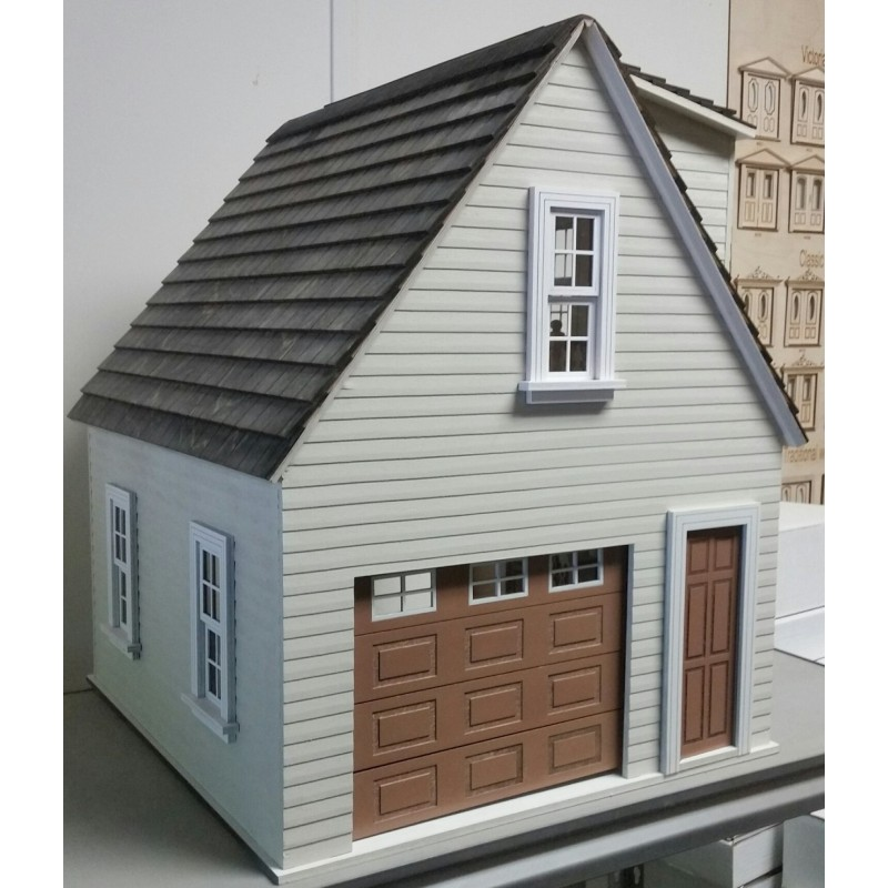 1:12 Scale Flat Pack MDF Garage Large Shed Kit Dolls House Miniature Garden Shop